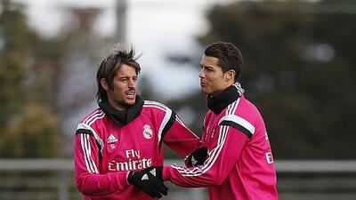 El portugués fue el centro de atención en el entrenamiento del Real Madrid.