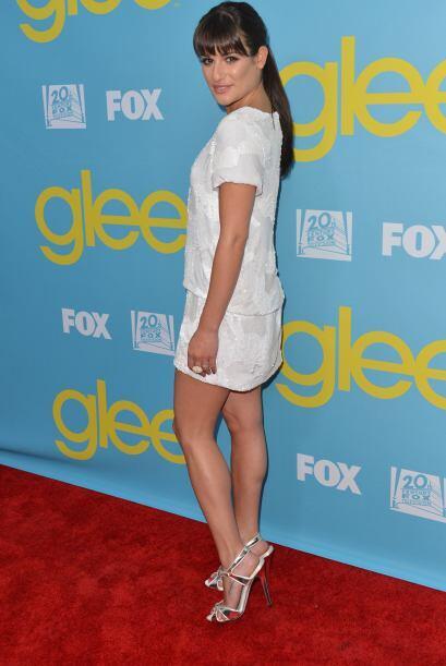 A Lea Michele le brillan los ojos en cuanto ve ropa de lentejuelas y par...