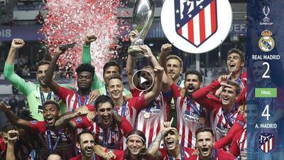 Atlético de Madrid rompe el maleficio y al fin vuelve a vencer al Real Madrid en una gran final europea