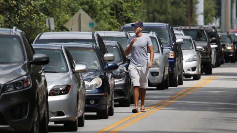 Miles de residentes de Miami decidieron resguardarse en otras partes del...