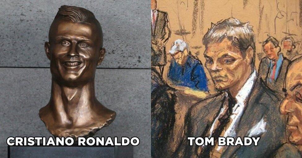 Los memes se burlan de Cristiano Ronaldo y su deforme escultura 14907986...