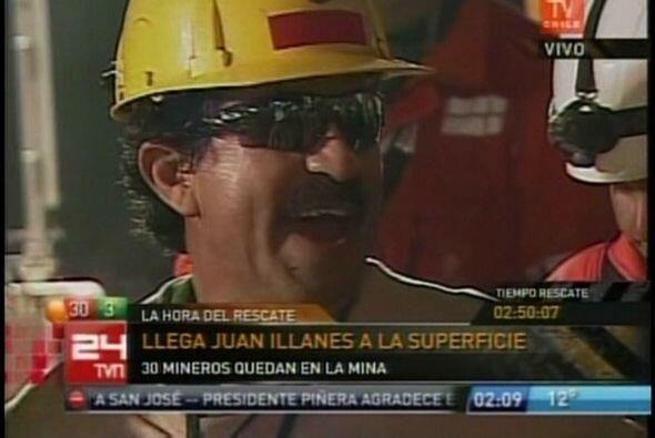 Juan Ilanés Palma, de 53 años, fue el tercer minero en ser rescatado.