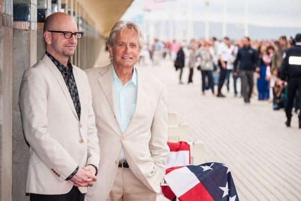 Michael estuvo acompañado del director Steven Soderbergh. Mira aquí lo ú...