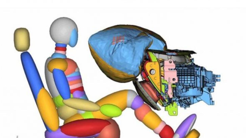 Ford presentó una nueva bolsa de aire para las rodillas del pasajero.