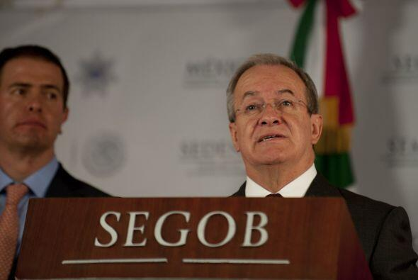 En una conferencia de prensa, Monte Alejandro Rubido García, comisionado...