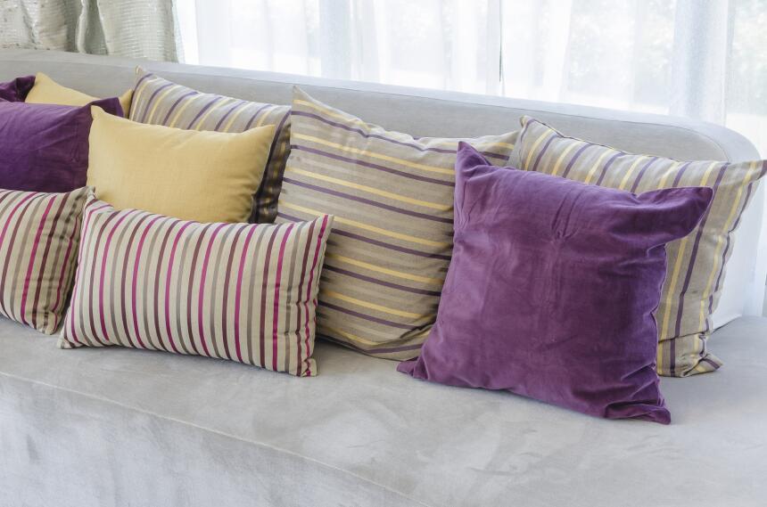 Los cojines son un elemento decorativo sencillo y funcional. Este simple...