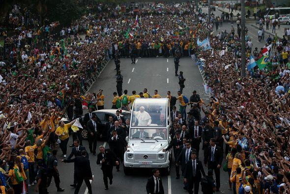 Durante la Jornada Mundial de la Juventud en Río de Janeiro, Bras...