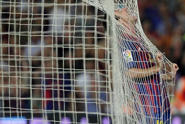 Messi se desahogó en el grito de gol.