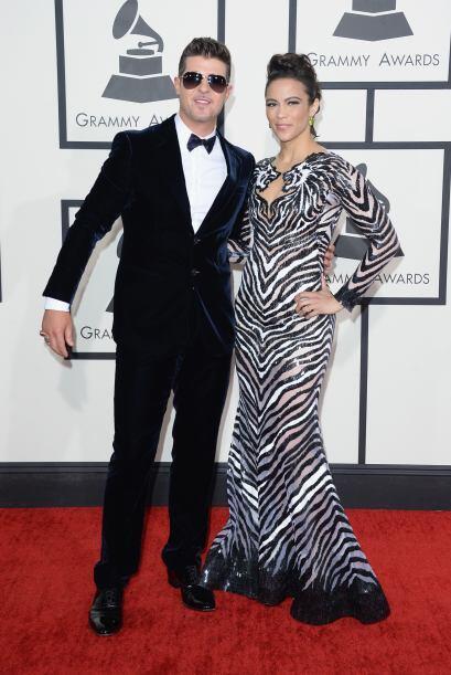 Robin Thicke y Paula Patton robaron la atención de las cámaras. Esta par...