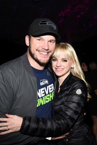 Los actores Chris Pratt (I) y Anna Faris la pasaron de lo mejor.