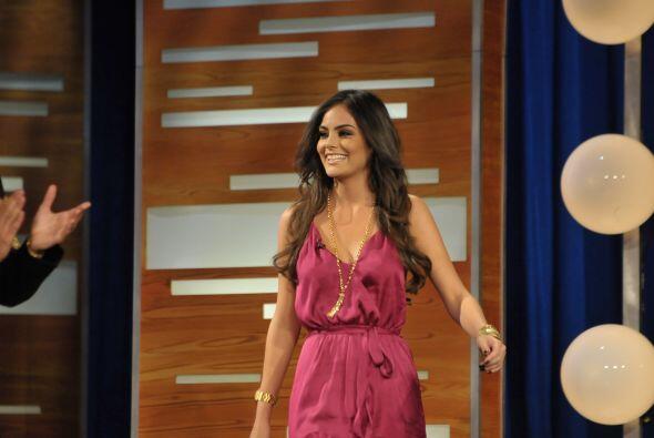 Una reina de belleza también apareció en Don Francisco Presenta.
