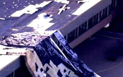 Tormenta deja daños materiales en la secundaria Benito Juárez en Pilsen
