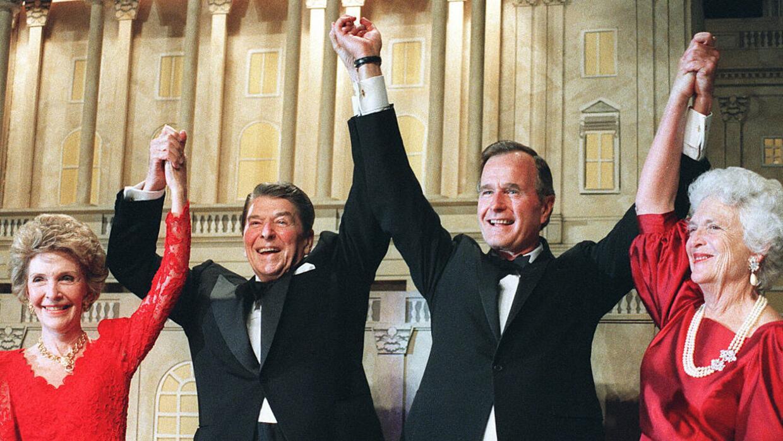 Los Reagan y los Bush en 1988: los tiempos de la Gran Carpa incluyente