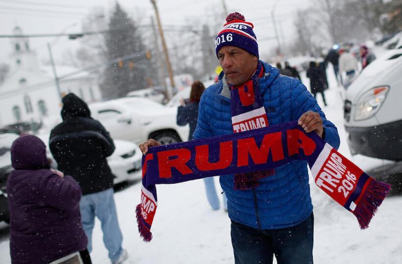 ¿Por quién vota la nieve en las primarias de New Hampshire? supporter-tr...