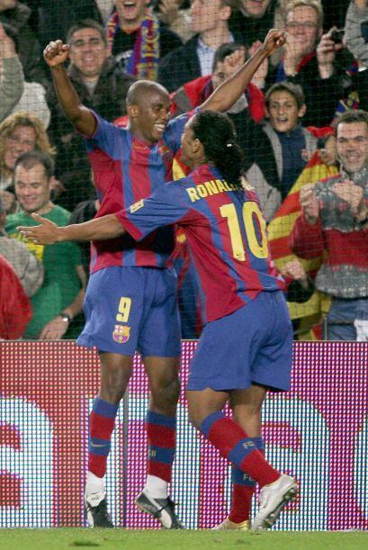 Ronaldo de Assis Moreira y Eto'o formaron una dupla letal.