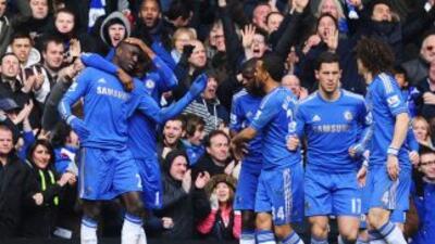 Demba Ba consiguió el único gol con el que los 'Blues' dejaron fuera a l...