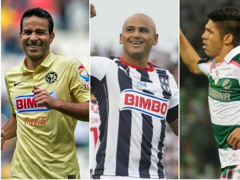 Los 3 delanteros buscarán conseguir goles para ayudar a sus equip...