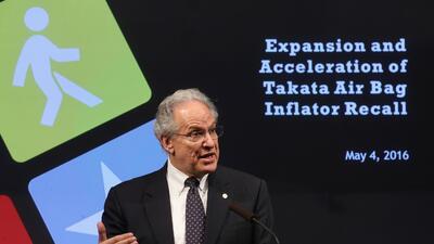 Mark Rosekind, Administrador de la NTHSA, anuncia la expansión de llamad...
