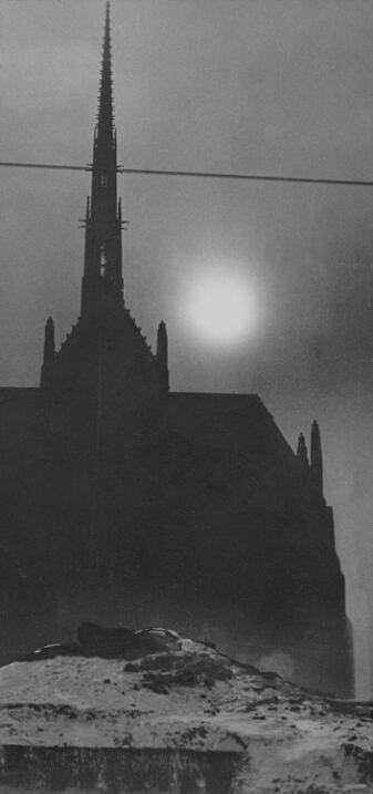 """""""Iglesia en la oscuridad al mediodía"""". 1940."""