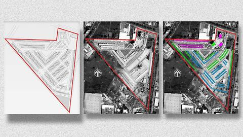 Imagen satelital presentada por la SEC como prueba de fraude. Muestra la...