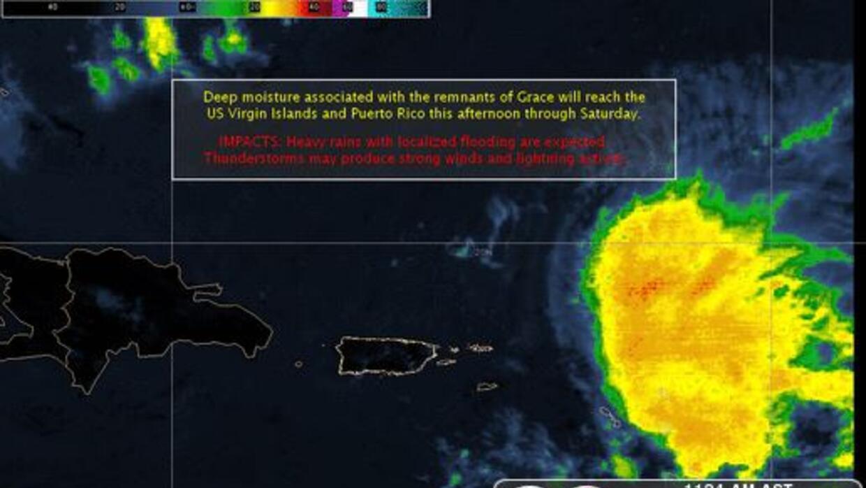 Se esperan lluvias asociadas a lo que fue la tormenta Grace.