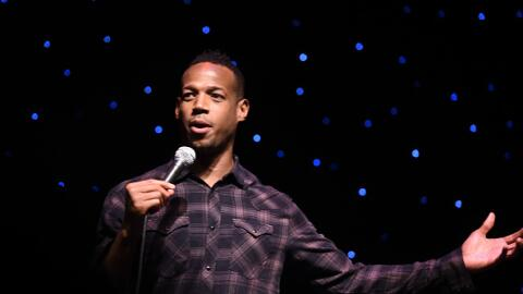 Comedian Marlon Wayans performs his stand up routine at the Mount Airy C...