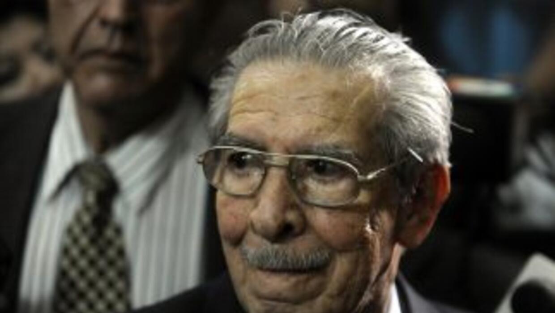 El exdictador guatemaltecoEfraín Ríos Montt.