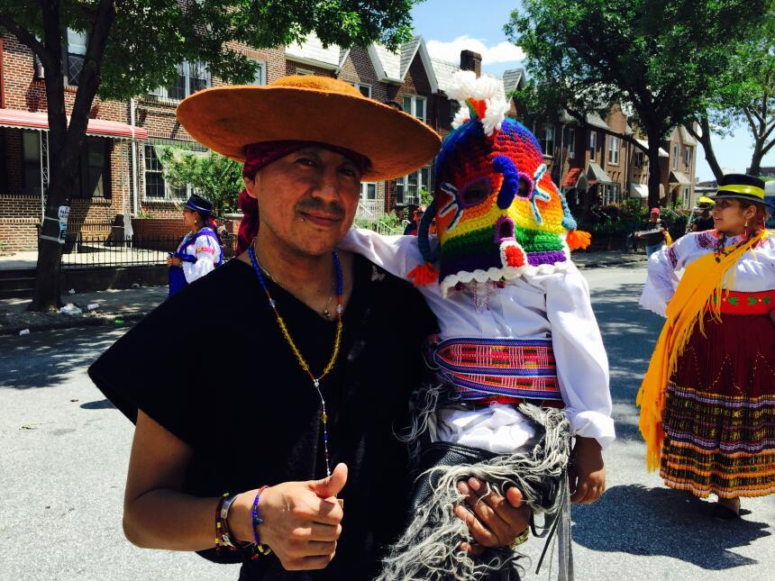 Se vieron atuendos tradicionales de diversas ciudades de Ecuador