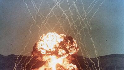 Estas son las fotografías de pruebas nucleares estadounidenses ocultas por más de 60 años