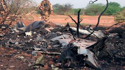 Imágenes del lugar donde se estrelló el avión de Air Algérie