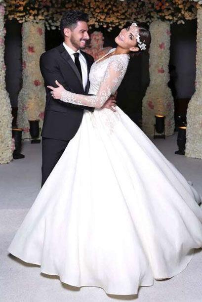 Marisol González también tuvo una boda de ensueño.
