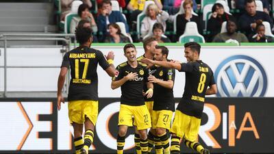 Con gran actuación de Pulisic y sin Dembelé, el Borussia Dortmund pasó sobre el Wolfsburg