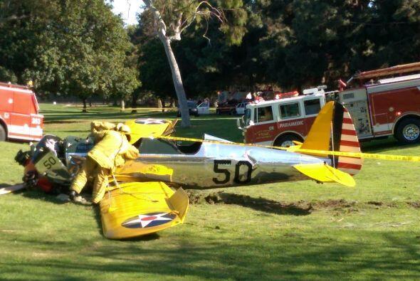 El avión de Harrison Ford se estrelló en un campo de golf.