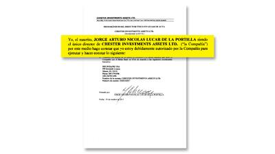 El 2 de septiembre de 2011, Mossack Fonseca designó a Jorge Arturo Nicol...