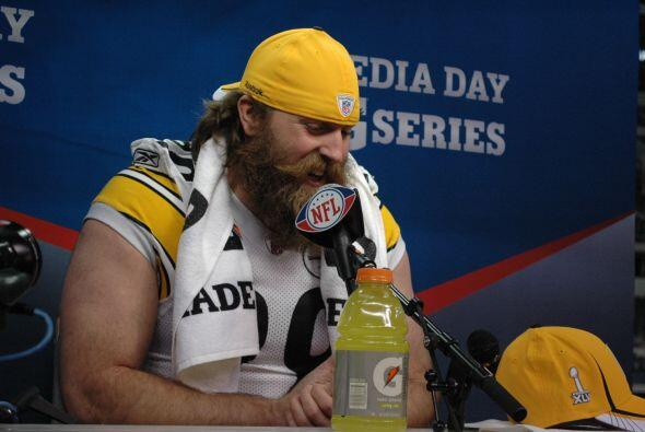 La barba más codiciada del Super Bowl, la de Brett Keisel.