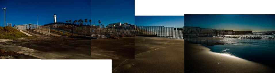 Comienzo (o fin) del muro en el Border Field State Park, en San Diego, C...
