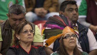 El Estadio Azteca se pintó de verde, blanco y rojo para apoyar al Tri ante Honduras