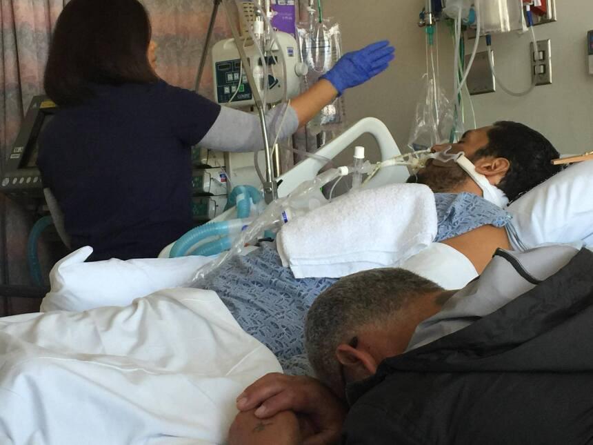El padre de Vincent Valenzuela se despide de su hijo antes de su muerte