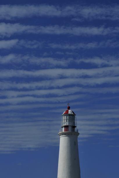 El faro más al oeste de la costa uruguaya está en la Isla de Farallón, f...