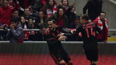 Benfica superó por la mínima al Braga y recuperó el liderato en Portugal