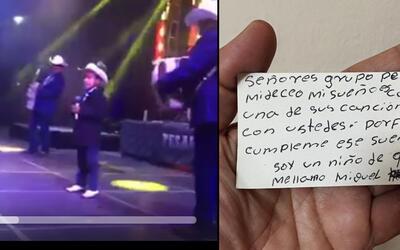 Un niño de 9 años cantó junto a Grupo Pesado en Chi...