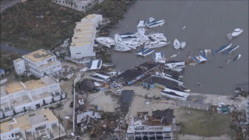 Las islas azotadas por el huracán Irma, en alerta por la tormenta tropic...