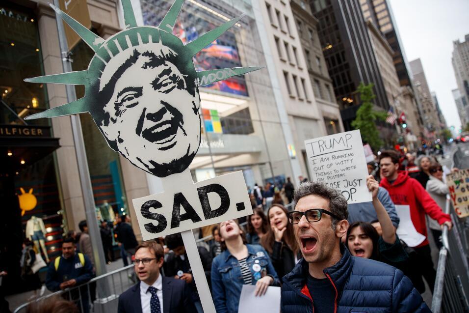 Los bajos niveles de popularidad de Trump (en su primer año ha te...