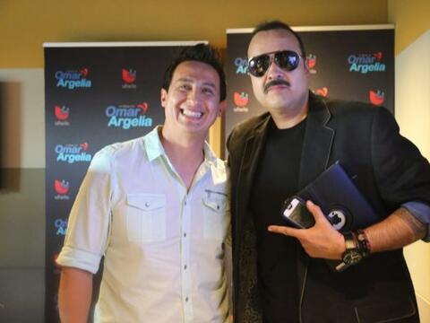 Pepe Aguilar con Ysaac Alvarez esta tarde en K-LOVE