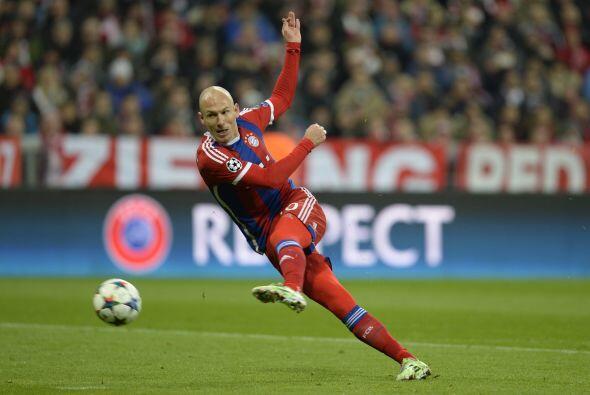 El segundo sitio se lo quedó Arjen Robben y Lewandowski, los jugadores d...