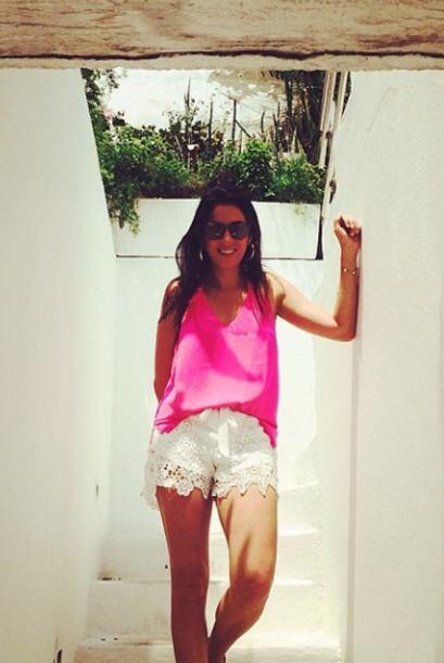 """""""Algo tiene #Cartagena que me encanta"""", contó Maity. (Mayo 24, 2014)"""