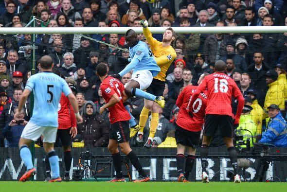El portero tuvo una destacada actuación en el 'derby' de Manchest...