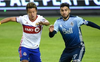 Toronto FC vs Vancouver Whitecaps, Tsubasa Endoh y Pedro Morales