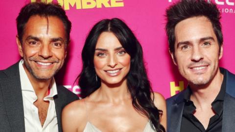 Eugenio Derbez, Aislinn y Mauricio Ochmann en la premiere de 'Hazlo como...