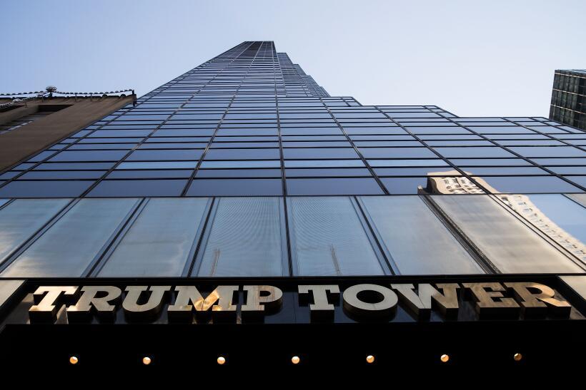 La dorada Torre Trump en Manhattan.